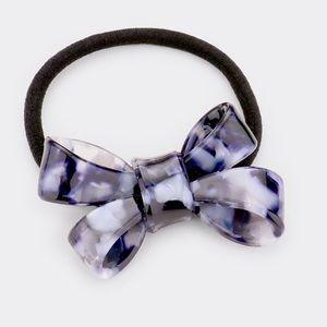 Acrylic Blue Bow Stretch Hair Band